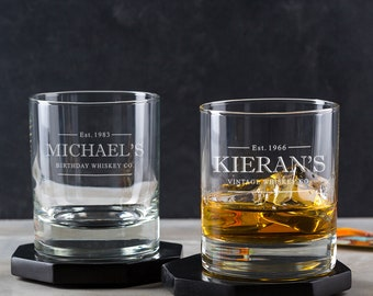 Personalised Whiskey Glass Tumbler
