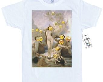The Birth of Venus T shirt, Bouguereau,  Emoji Painting