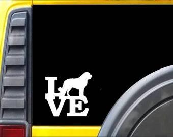 St Bernard Love Window Decal Sticker *F248*
