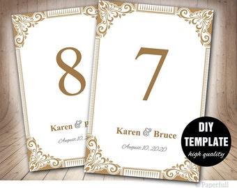 Tischkarten Hochzeit Hochzeit Tischkarten Zahlen