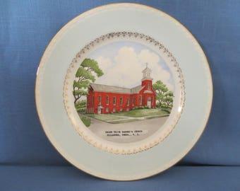 Vintage Salem Union Barren's Church Dillsburg PA Collector Plate