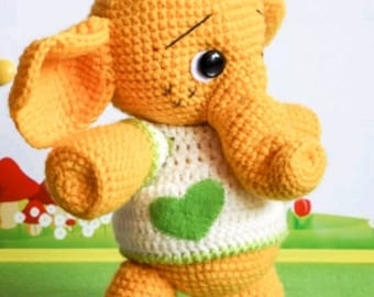 Crochet pattern Elephant Tommy