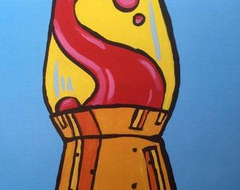 VINTAGE LAVA LAMP art print
