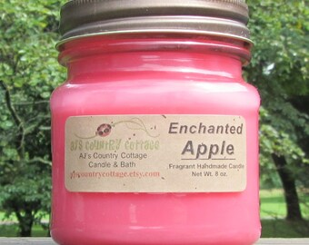 ENCHANTED APPLE CANDLE - Apple Candles, Candied Apple Candle, Fruit Candles, Fall Candles, Autumn Candles, Fall Decor, Autumn Decor, Rustic
