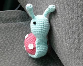 Super cute amigurumi snail toy doll ready to ship