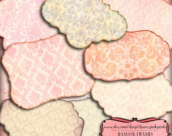Shabby Digital label, clip art frame and label png files, great for your next craft project