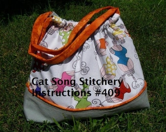 Lined Weekend Bag/Purse, Easy to Sew, Sewing Instruction -pdf