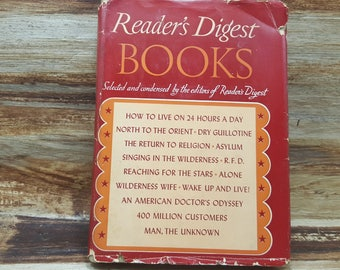 Readers Digest Books, 1941, Selected and condensed, First Edition, vintage book