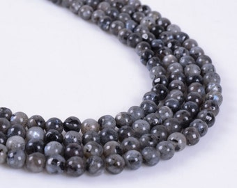 4MM322 4mm Larvikite round ball loose gemstone beads 16""