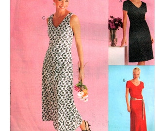 McCall's Sewing Pattern 3996  Misses' / Miss Petite Dress in two lengths  Size:  FF  16-18-20-22  Uncut