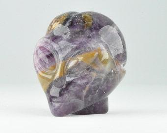 Natural Realistic Fluorite Alien Crystal Skull, Mini!
