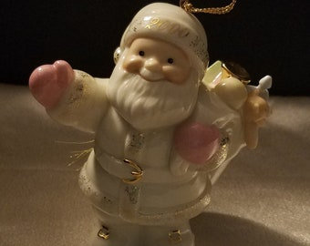 Retired Lenox Classics Porcelain China Christmas Ornament Annual Santa Ornament Santa's Special Delivery with Original Box