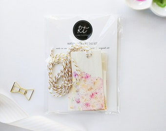 Watercolor Gift Tags, Favor Tags, Hand-Painted Gift Tags, Pastel Gift Tags, Bridal Shower Tags, Mother's Day Gift Tags, Spring Gift Tags