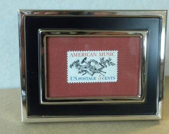 Framed stamp, framed art, American Music, Vintage, 5 cent mint U.S. postage stamp, graduation gift, teacher gift, appreciation gift,
