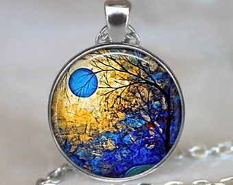 Blue Moon necklace, blue moon pendant, blue moon jewelry, blue moon jewellery, blue moon keychain, blue moon key chain key fob