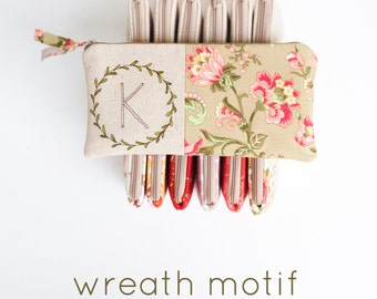 Bridal Shower Hostess Gift, Monogram Cosmetic Bag, Personalized Hostess Gift, Monogrammed Clutch, Wedding Shower Hostess, MamaBleuDesigns