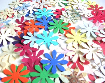 Punched Flower Confetti - Mix for Photo Props - Party Confetti - Table Decorations, Scrapbooking, Card Making - 250 Count