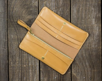 Leather Wallet, Ladies Wallet, Purse, Womens Long Wallet, Leather clutch, Slim wallet, Travel wallet, Gift for her, Womens Gift, Slim