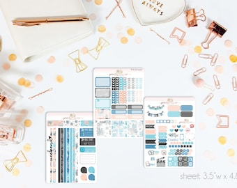 Winter Queen MINI Weekly Kit // 130+ Matte Planner Stickers // Perfect for your Personal Planner // WKM0490