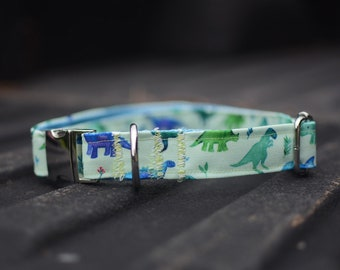 PREMIUM COLLECTION, Eco Canvas Collar, DINOMITE, Dog, Collar, Dog Collar, Waterproof, Buckle, Martingale