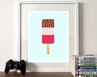 Nursery print, ice cream print, illustration poster, nursery quote, nursery poster, cute illustration, ice cream, ice cream poster, nursery