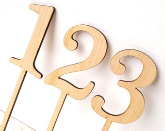 Wooden table number, wedding table numbers, rustic table numbers, unfinished wood numbers, diy wedding table decoration
