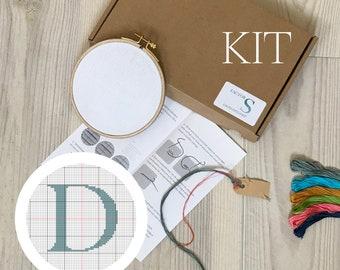 letter D - cross stitch kit