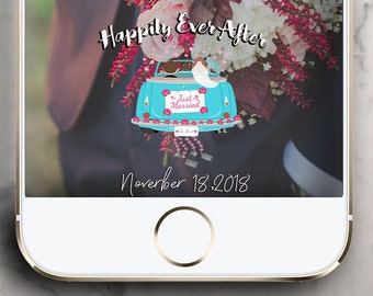 Happily Ever After Just Married Wedding Snapchat Geofilter !