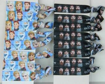 FOE Elastic Hair Ties, Choice of Frozen or Duck Dynasty~Ready to Ship~