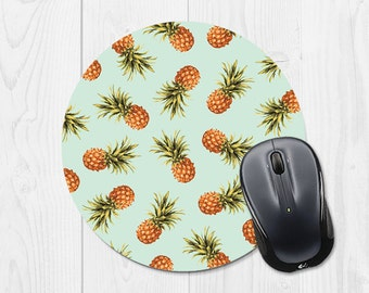Mousepad Round Mouse Pad Pineapple Mouse Pad Mint Mouse Pad Mint Green Mouse Pad Tropical Mouse Pad Fun Office Accessories Cubicle Decor