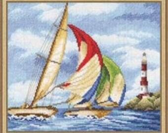 Cross Stitch Kit -  Sailing Regatta