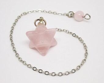 1 pendulum quartz pink Merkaba (or.my REF.)