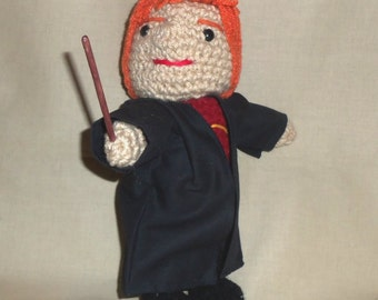 Ron Weasley Doll Crocheted 7 inches tall  Ready to Ship