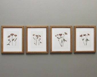 botanical wall gallery - Natural Botanicals -4 piece framed prints