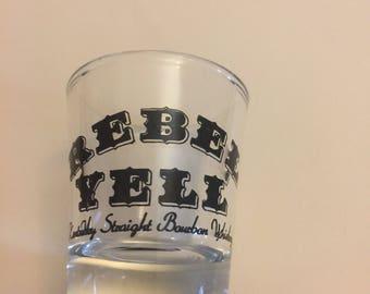 """Rebel Yell Kentucky Straight Bourbon Whiskey 2.3/8"""" Shot Glass Barware"""