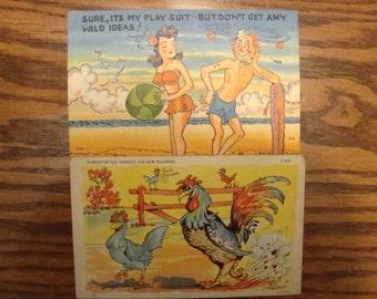 Two Comic Postcards