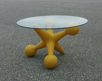Vintage Bill Curry Design Line Pop Art Jax Table, Oversided Jack Plastic Table Base, Mid Century Modern Pop Art Design, Jax Side Table