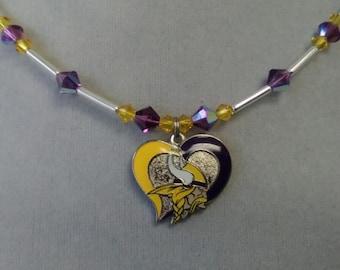 Minnesota Vikings Swarovski Crystal Necklace
