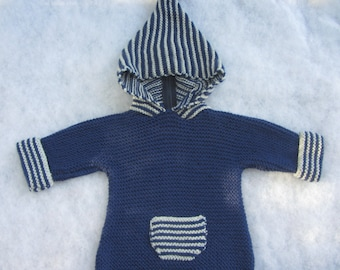 All natural merino baby hoody. Size 6 months.