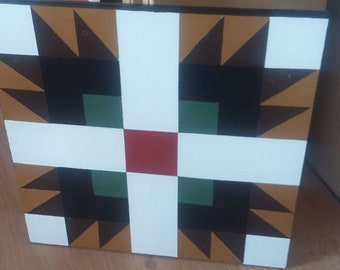 Hand Painted Bear Paw Barn Quilt