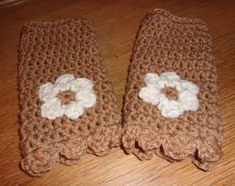 Fingerless Gloves Womens Crochet Wrist Warmers Texting Gloves Winter Accessory