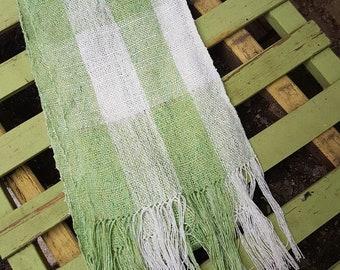 Weaving in Japanese silk, Bohemian scarf