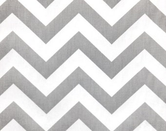 Premier Prints Zig Zag Twill in Storm - Gray Canvas Sold Per Half Yard
