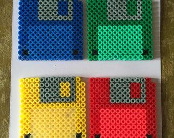 Floppy Disk Coasters Set