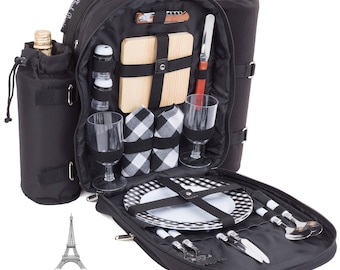 Two Person Insulated Picnic Backpack/Basket-Blackberry