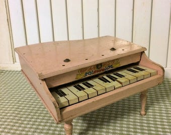 Vintage Toy Grand Piano
