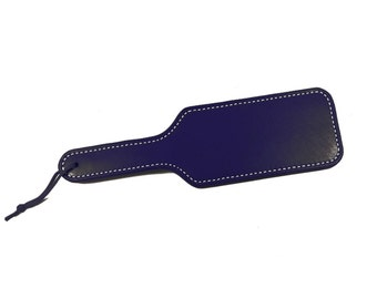 Purple Leather Paddle - Choice of Stitching Color