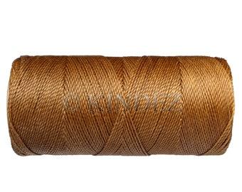 Bracelet Cord - 1 spool - Waxed Polyester - Macrame Cord - Ochre Brown