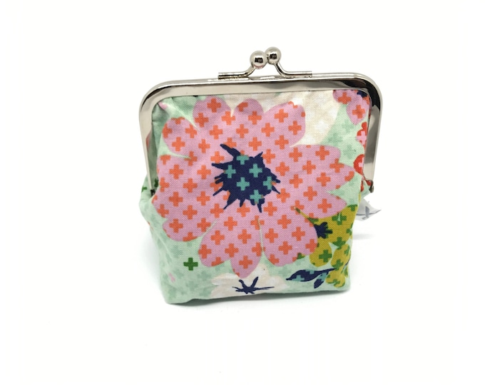 Metal frame kiss lock purse/coin purse Retro Flowers