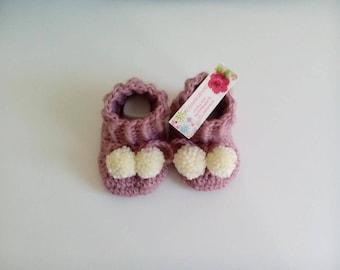 baby booties baby wool 100% handmade